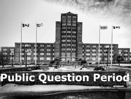 Public Question Period | Tom Marshall