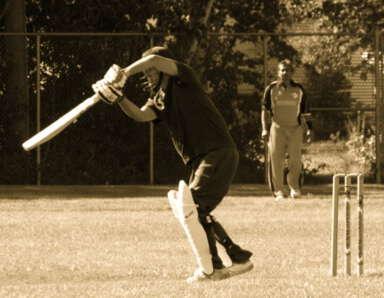 Rakesh Negi playing cricket