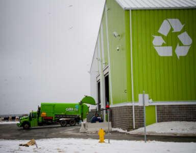 Recycling facility at Robin Hood Bay