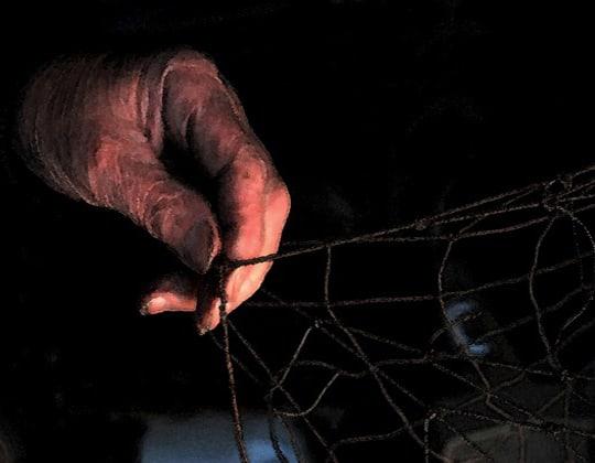 hand pulling net