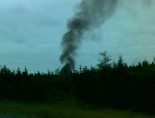 PHOTO: Strange fire on the highway